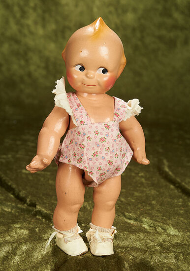 """12.5"""" Vintage composition Kewpie by Cameo in original outfit."""
