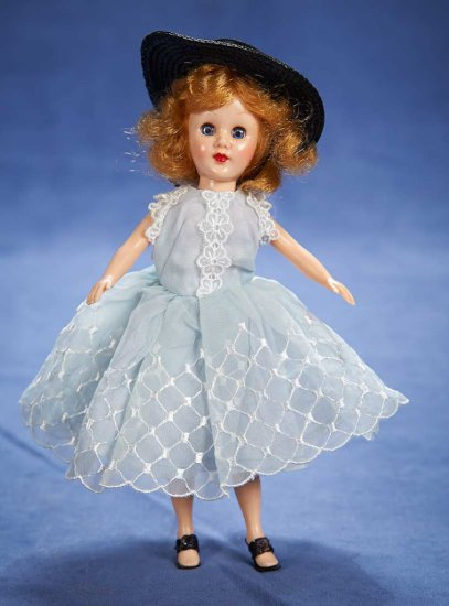 "8"" (20 cm.) Sandra Sue in Pretty Blue Organdy Dress and Hat by Richwood Toys 75/150"