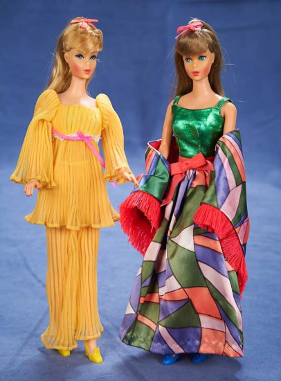 "11"" (28 cm.) Pair of Costumed Mattel Barbies from 1967 200/400"