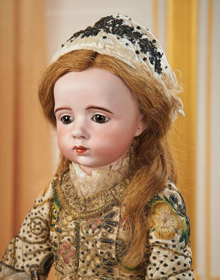 French Bisque Art-Character Doll by Albert Marque, Original Dress, Historical Label 160,000/190,000