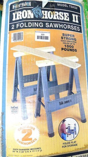 Pair Of Hirsh Iron Horse II Folding Sawhorses