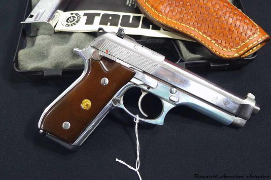 Taurus PT 99 AFS 9mm pistol with leather holster, 2