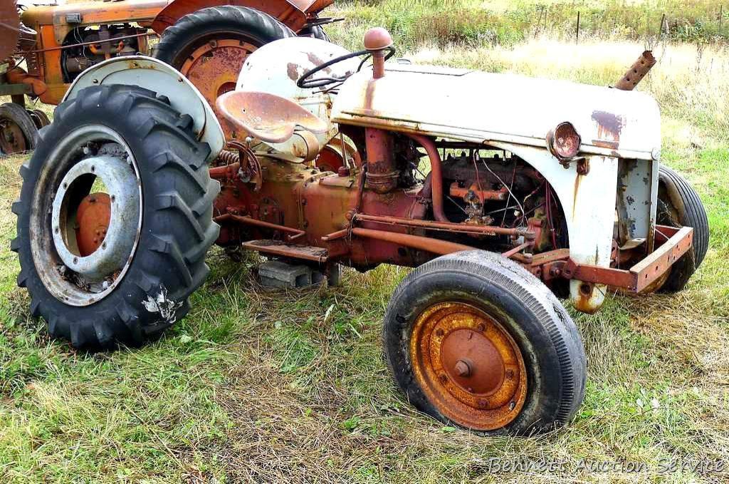9n Ford Tractor >> Lot Ford 9n Tractor With Sherman Auxiliary Transmission Fix It Up