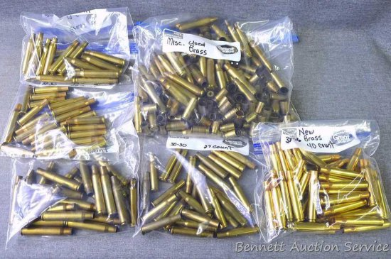 Seller's note states new and used brass for .30-30, .30-06, .280 and other.
