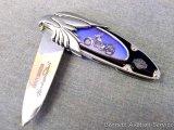 Harley Davidson Screaming Eagle pocket knife by Franklin Mint, as new. 4-5/8