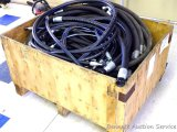 Large quantity of hydraulic hoses believed to be unused pieces from industrial hose kits. We did not
