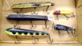 Wooden bodied muskie lures up to 8