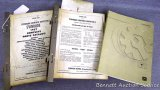 1957 & 1956 Evinrude Complete Parts Catalogs; 1958 Evinrude Lightwin-Ductwin 3 parts list; John