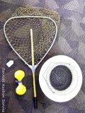 Metal fishing basket; fishing net with extendable handle, net is 20