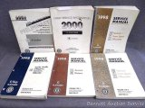 Assorted automobile service manuals, see pictures.
