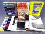Chilton 1987-92 Mazda truck repair manual; Jeep Wrangler 1987-92 repair manual; Air conditioning