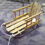 White ash Tiny Tots child's runner sled is 13