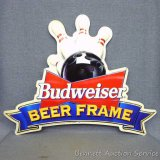 Budweiser Beer Frame metal sign is dated 1994. Approx. 2' x 3'. Graphics are excellent. Very nice
