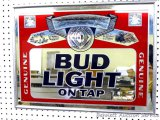 Bud Light Beer mirror dated 1992 and measures 25