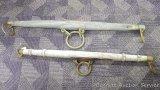 Two antique neck yokes, 42
