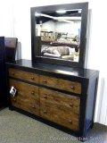 Ashley Signature six drawer dresser with mirror. Model B653. 62