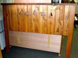Chequamegon Presque Isle queen headboard with bear and tree cut outs. Amish built.