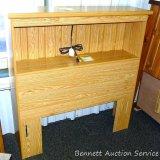 Lang oak bookcase twin headboard.