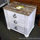Ashley Signature two drawer white wash night stand. Model B267-92.