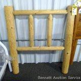 Rustic USA twin log headboard. Made in USA.