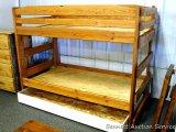 Chequamegon twin/twin cedar bunk bed. Amish built.