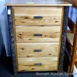 Amish built Hill Top hickory 4 drawer chest.