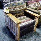 Best Craft chair, River Run Moss. Matches lot 895.