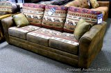 Best Craft queen sleeper sofa with accent pillows, Big Lake Horizon.
