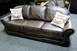 Best Craft sofa with accent pillows, Dakota Peat. Model 3101
