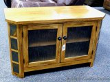 Sunny Design Oak TV stand with two shelves. 42