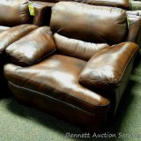 Leather Italia Chair, Baron Brown. Matches lots 905, 915 and 916.