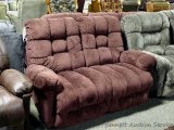 Best reclining loveseat, Sangria. Model L515RA4. Matches lots 913, 926 and 940.