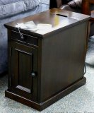 Ashley end table with electrical outlets. Model T127-551.