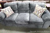 Telluride Ash American sofa with accent pillows. Model 5453 3030.