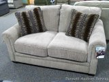Jackson Love Seat with decorative pillows. Approx. 68
