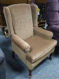 Best Queen Ann wing chair, walnut. Model 8000DC20026.