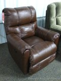 Lane leather power recliner/rocker. Approx. 34-1/2