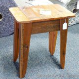 Chequamegon - Amish end table, barn wood. Matches lots 960, 963, 964 and 965.
