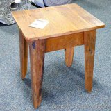 Chequamegon - Amish end table, barn wood. Matches lots 960, 962, 963 and 965.