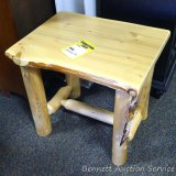 Best Craft log end table, Model RC1109. Built in American