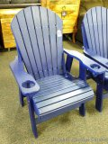 Sunnyside Poly blue Adirondack outside chair. Amish built. Composite lumber with Stainless fasteners