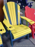 Sunnyside Poly Green Bay Packer Adirondack outside chair. Amish built. Composite and Stainless