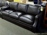 Leather Italia Grandview Sofa, expresso. Model 1669-6106. Genuine leather and made in USA. Matches