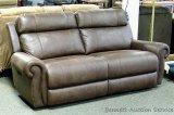 Flexsteel Leather Power Recliner Sofa, Model UM167-70.
