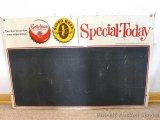 Vintage Gettelman Brewing Corporation of Milwaukee, Wis. Advertising chalkboard measures 20