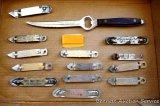 Leinenkugel's, Hamm's, Grain Belt, Budweiser, Kingsbury openers, plus a Olson & Goodman Inc. Pabst &