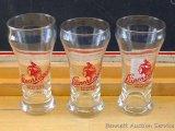 Three Leinenkugel's Chippewa Pride Beer glasses Two stand 5-3/4