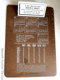 Promotional clipboard from Mauel's Dairy, Owen, Wisconsin features 1967-1971 calendar. Measures