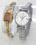 Hyde Park Swiss made ladies watch sets, winds, and runs. Ladies Timex wind up wrist watch with date
