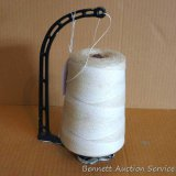 Antique cast iron store string dispenser from Malchow Grocery, Medford, WI. As would have been on